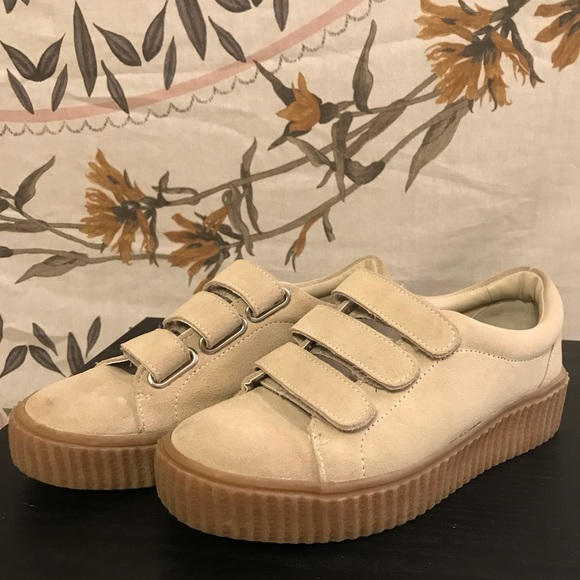 Urban Outfitters Platform Velcro Shoes